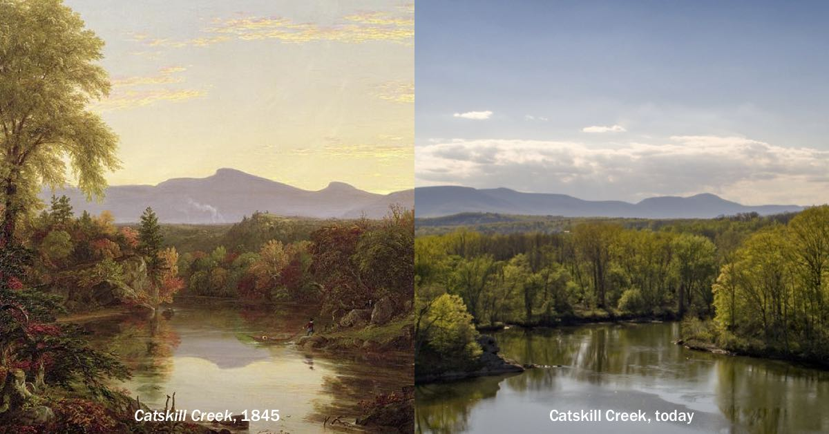 Thomas Cole Painting and Present Day Landscape