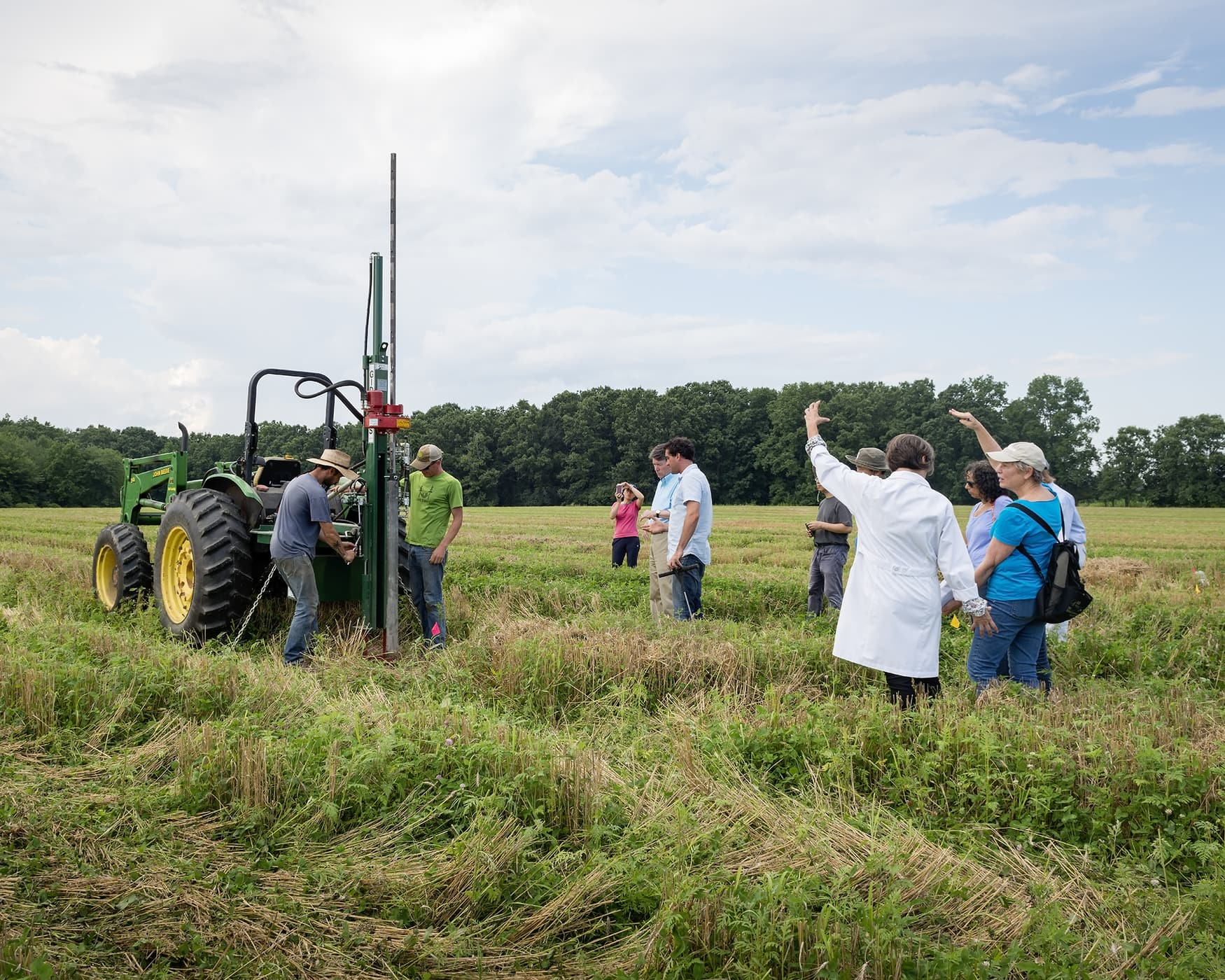 Farmers exploring regenerative agricultural methods