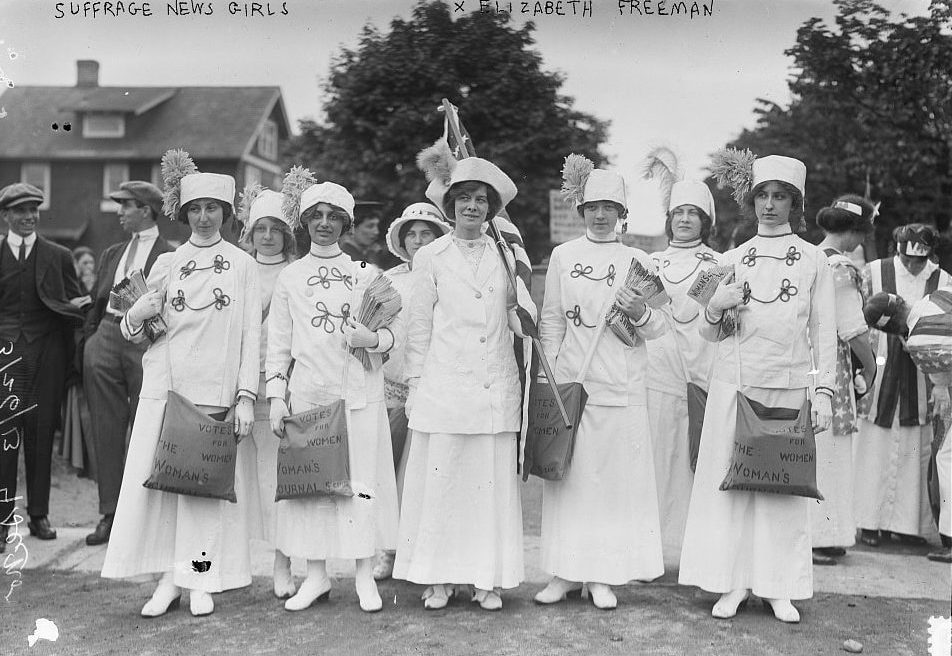 Womens' Suffrage March (photo courtesy Library of Congress)