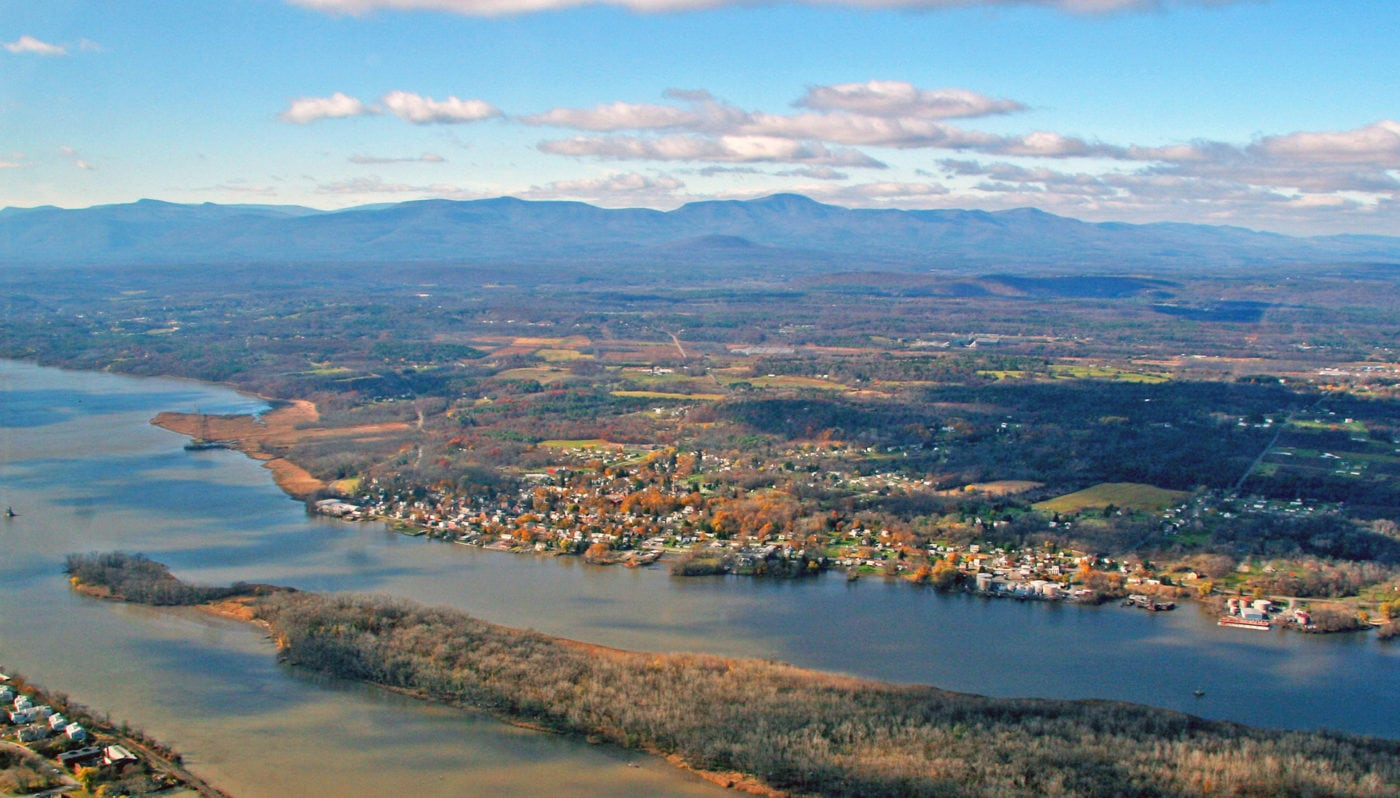 Athens, NY from the air