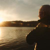 Ned Sullivan watching sunset