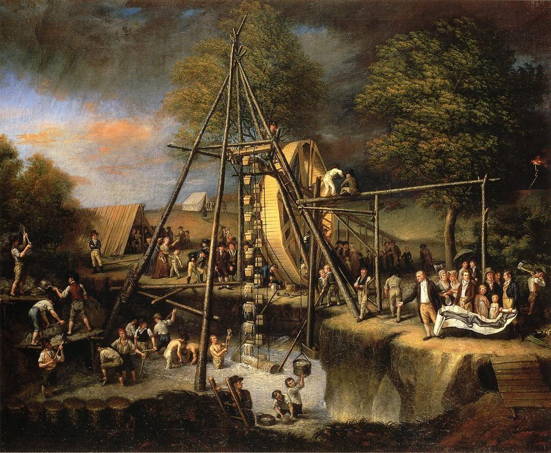 Exhumation of the Mastodon by Charles Willson Peale / Public domain