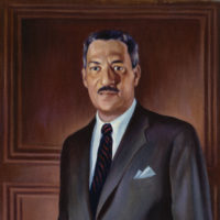 Thurgood Marshall Painting by Betsy Graves Reyneau