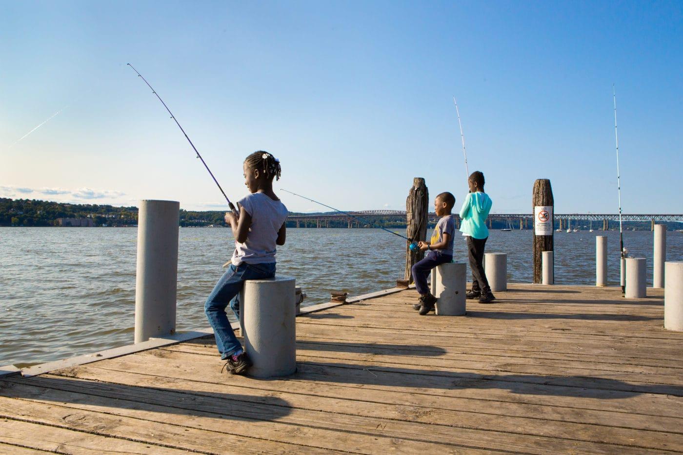 Fishing at Long Dock Park, Beacon, NY