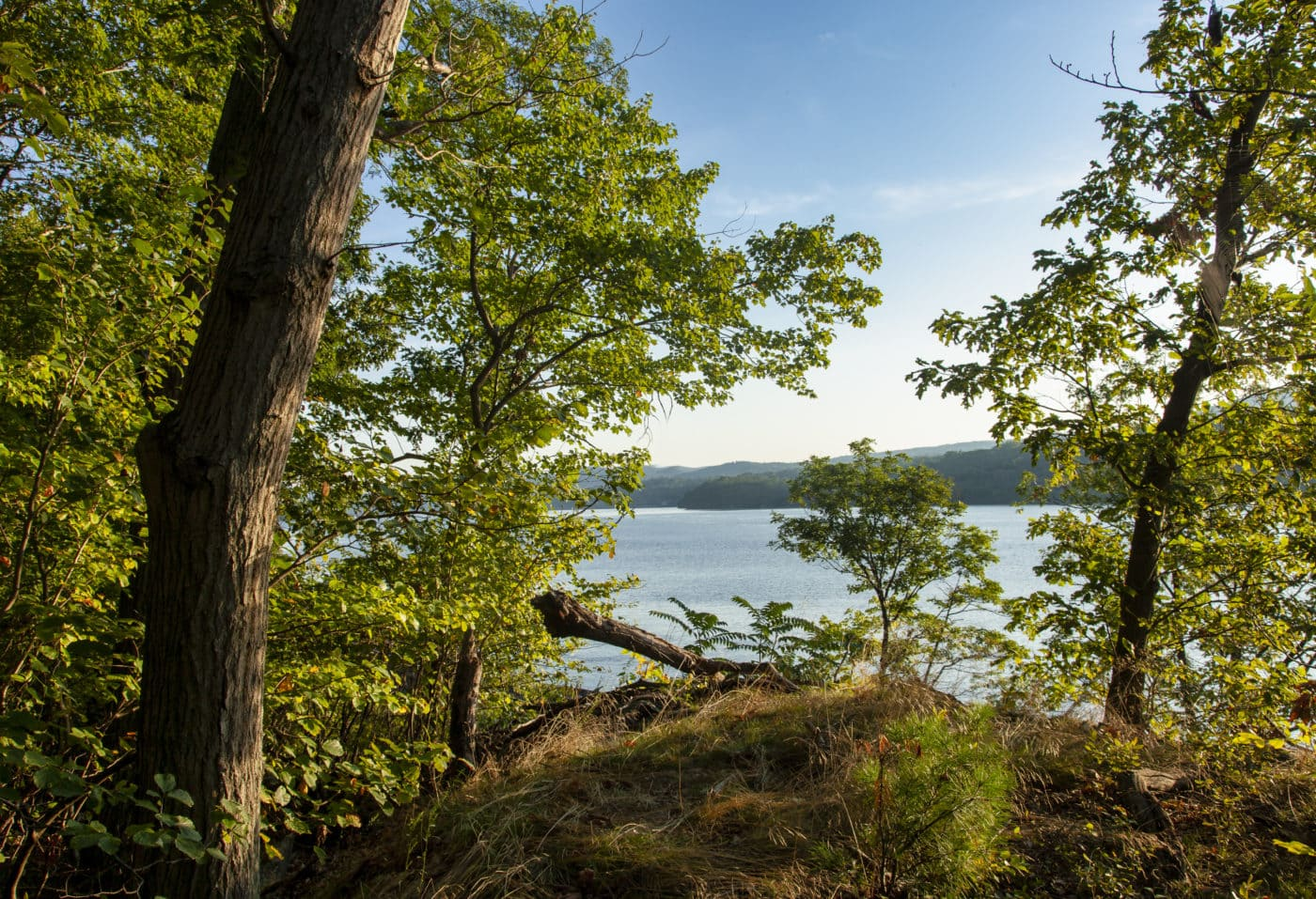 Scenic Hudson conserved land near West Point with views of the Hudson Highlands